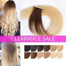 Ombre Tape In Remy Human Hair Extension Real Natuurlijke Menselijk Haar Lijm Hair Extensions Ombre Blonde Naadloze Tape Op Haar