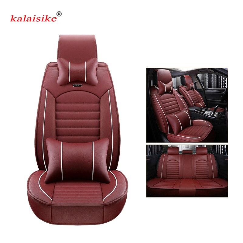 Kalaisike leather Universal Car Seat covers for Hyundai all models i30 ix25 ix35 solaris elantra terracan accent azera lantra - 2