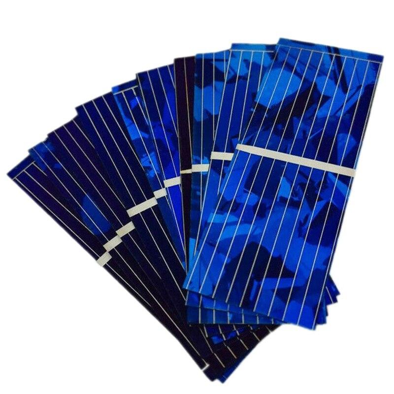 100 шт Солнечная панель Солнечная батарея Diy зарядное устройство 0,5 V 320Ma 52X19Mm|Солнечные элементы|   | АлиЭкспресс