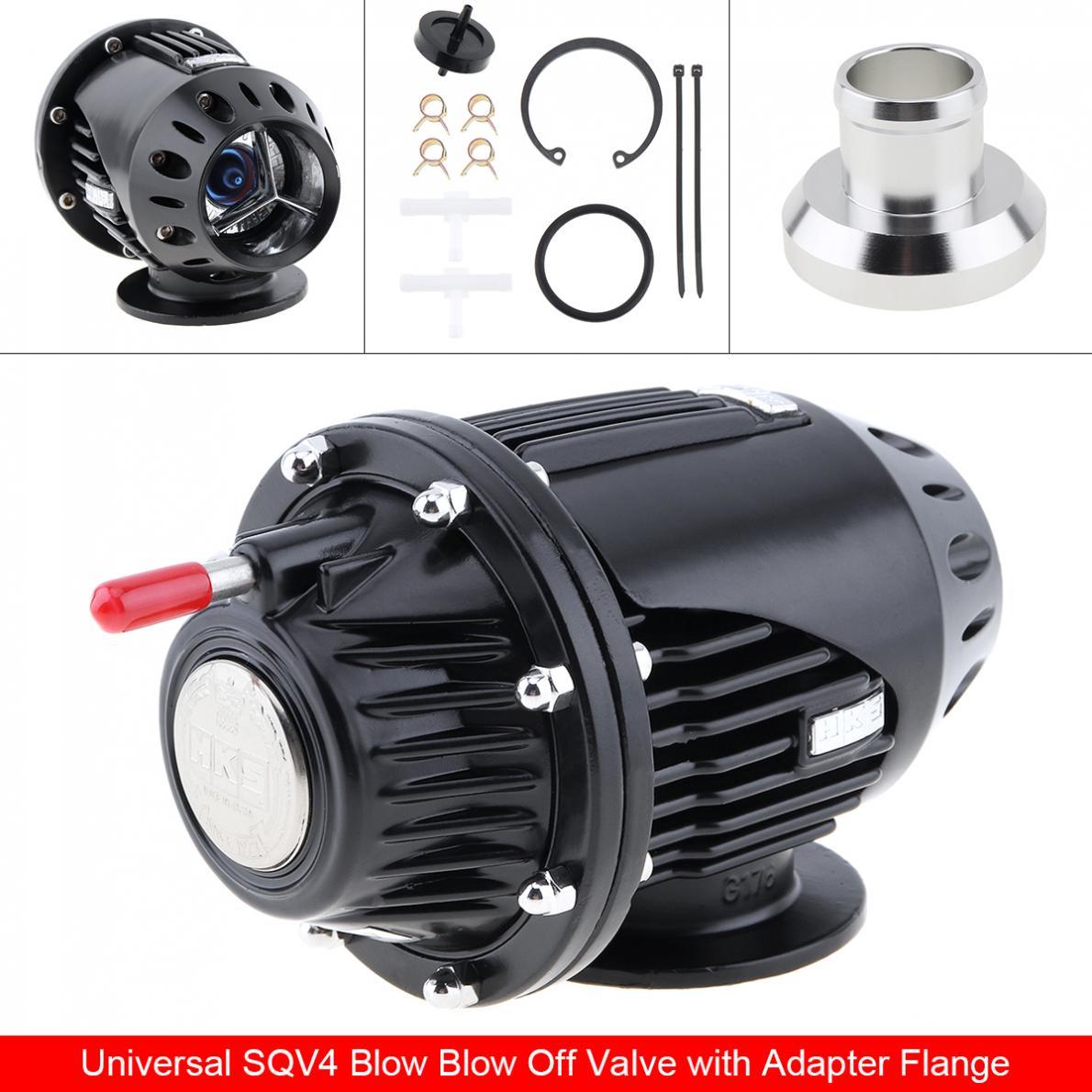 Universal Schwarz SQV4 SQV 4 IV Bov Turbo Pull-Typ Blow Off Ventil Bov Abgas Ventil mit Adapter Flansch