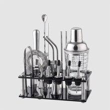 Accessori-Tools Bartender-Kit Cocktail-Shaker-Set Glass Mixer Whisky Acrylic-Stand Barware-Bar
