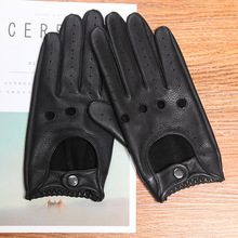 Genuine Leather Men's Gloves Anti-Slip Driving Breathable Fitness High Quality Real Deerskin Gloves Male Free Shipping D0131-9M high quality genuine leather men s semi finger gloves anti slip driving breathable fitness deerskin gloves male d0132 9m