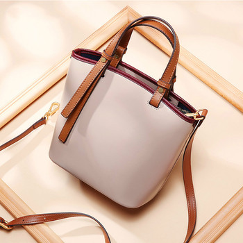 Woman Bags Luxury Designers 2020 Fashion Panelled Women Handbag Genuine Leather Ladies Bucket Bags for Girls Shoulder Bags Tote