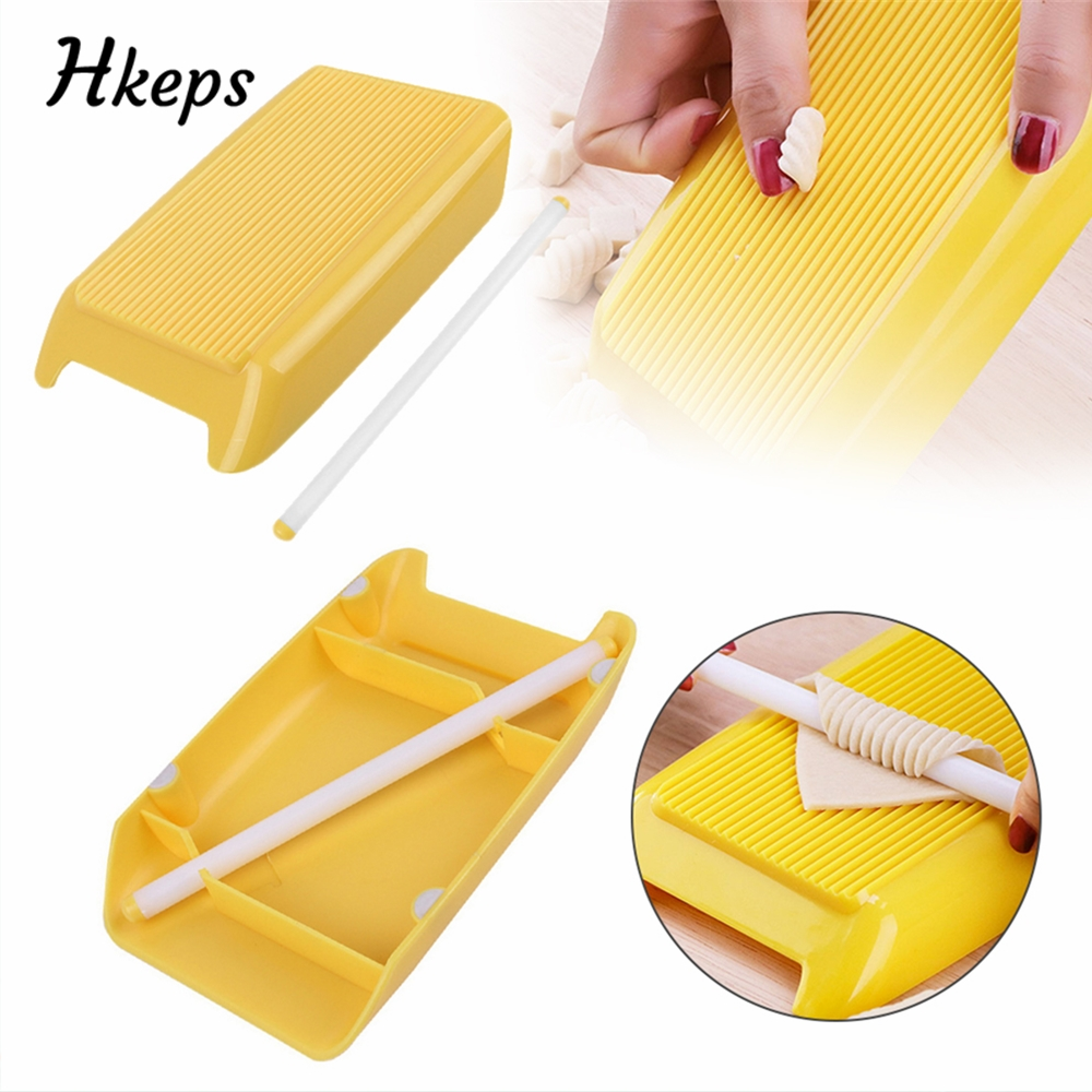 Plastic Pasta Macaroni Board Spaghetti Macaroni Pasta Gnocchi Maker Rolling Pin Baby Food Supplement Molds Gadgets Kitchen Tools image