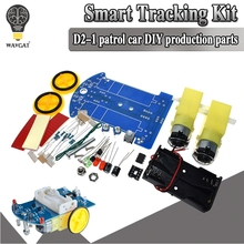 D2-1 DIY Kit Intelligent Tracking Line Smart Car Kit TT Motor Electronic DIY Kit