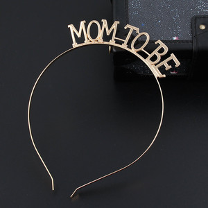 Image 3 - Rose Gold Silver Mom To Be Tiara Crown Headband for Baby Shower Boy Girl Gender Reveal Party Pregnancy Announcement Decorations