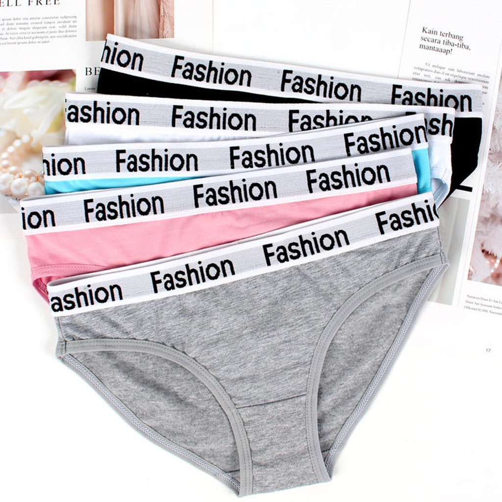 Fashion Letter Print Cotton Underwear Women''s Panties Comfort Underpants Briefs For Woman Sexy Low-Rise Pantys Intimates S-XL