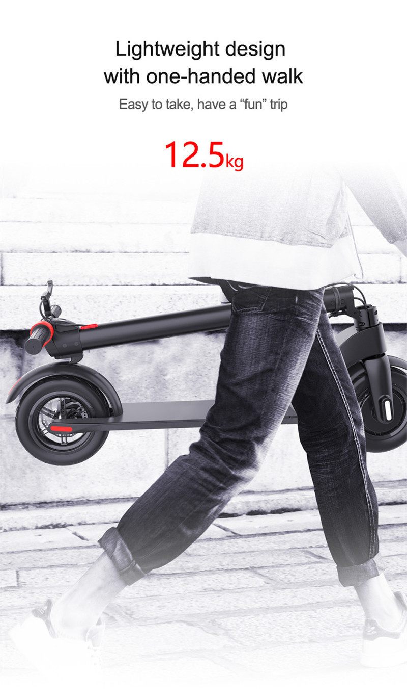 HX X7 Electric Scooter 36V 2 Wheel Electric Scooters With Removable Battery 8.5 Inch 250W Portable Folding Electric Kick Scooter (12)