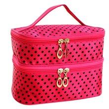 Litthing Layers Travel Toiletry Beauty Cosmetic Bag Makeup Case Organizer Zipper Holder Handbag Bolsa de maquillaje Trousse