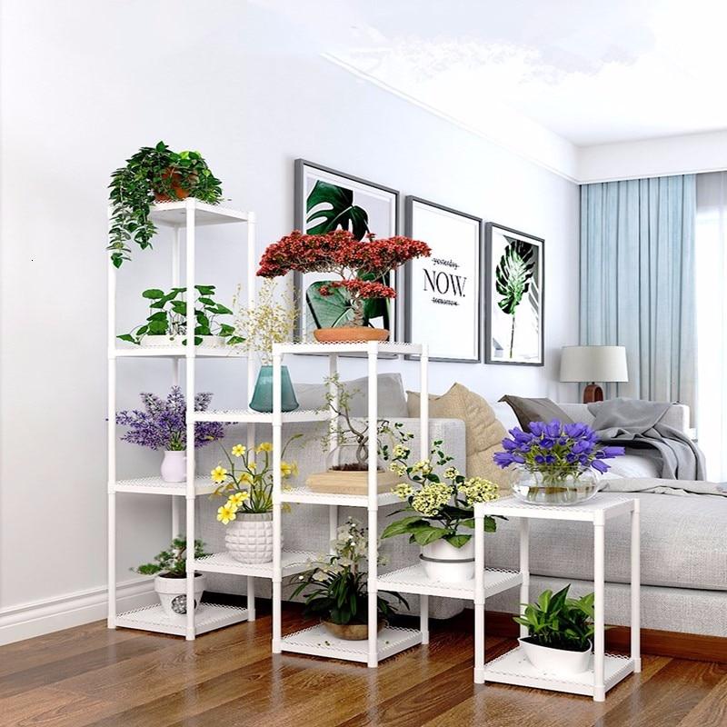 Multi-storey Room Introspection Space Balcony A Living Room Botany Frame  Potted Plant Flowerpot Shelf
