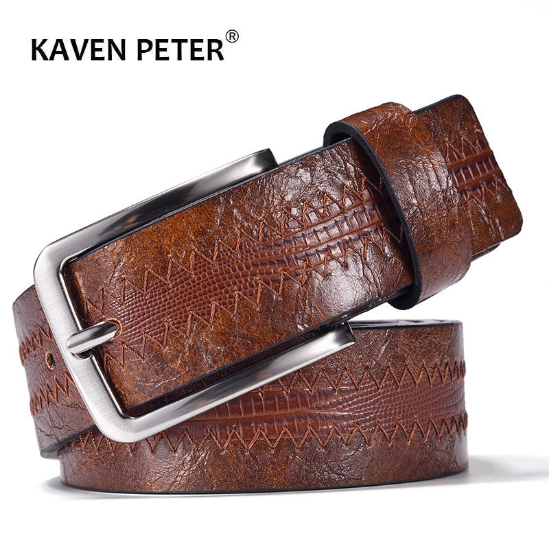 Fashion Men's Casual Leather Belt With Lizard Pattern High Quality Cowhide Pin Buckle Belt New Design Drop Shipping