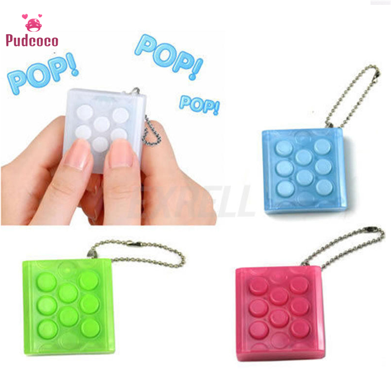 Pudcoco Mini Toy Funny Puchi Puchi Endless Pop Pop Novelty Infinite Bubble Crazy Gadget Wrap Relieve Stress Key Chain Squeeze