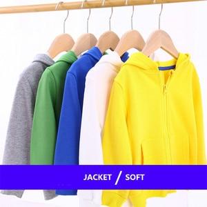 Image 2 - ילדי בגדי בני מעילי ילדי ברדס רוכסן צבעים בוהקים ספורט תינוק אופנה הדפסת מעיל תינוקות עמיד למים נים עבור בנות