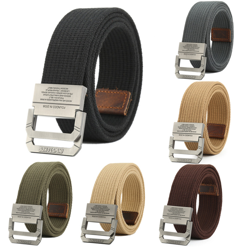 Nylon Canvas Belt Men Army Tactical Belts Selling Man Outdoor Sport Double Buckle Weave Nylon Canvas Cowboy Pants Belt