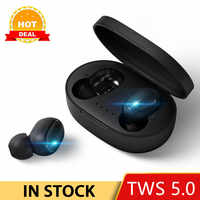 TOMKAS TWS Bluetooth Headsets PK Redmi Airdots Wireless Earbuds 5.0 Earphones Noise Cancelling Mic Charging Box PK i200 i500 TWS