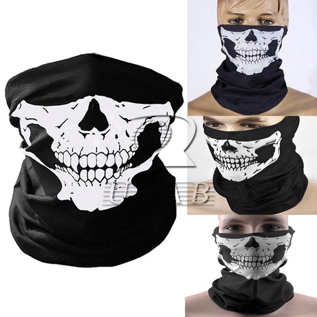 Black Skeleton Ghost Skull Face Mask Mouth Mask Biker Balaclava Costume Anti Dust Windproof Flu Mouth-muffle Bacteria