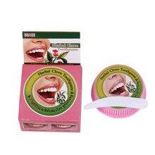 Pasta de dientes de clavo Natural, pasta de dientes blanqueadora tailandesa, elimina las manchas, Gel Dental antibacteriano alérgico, 25g