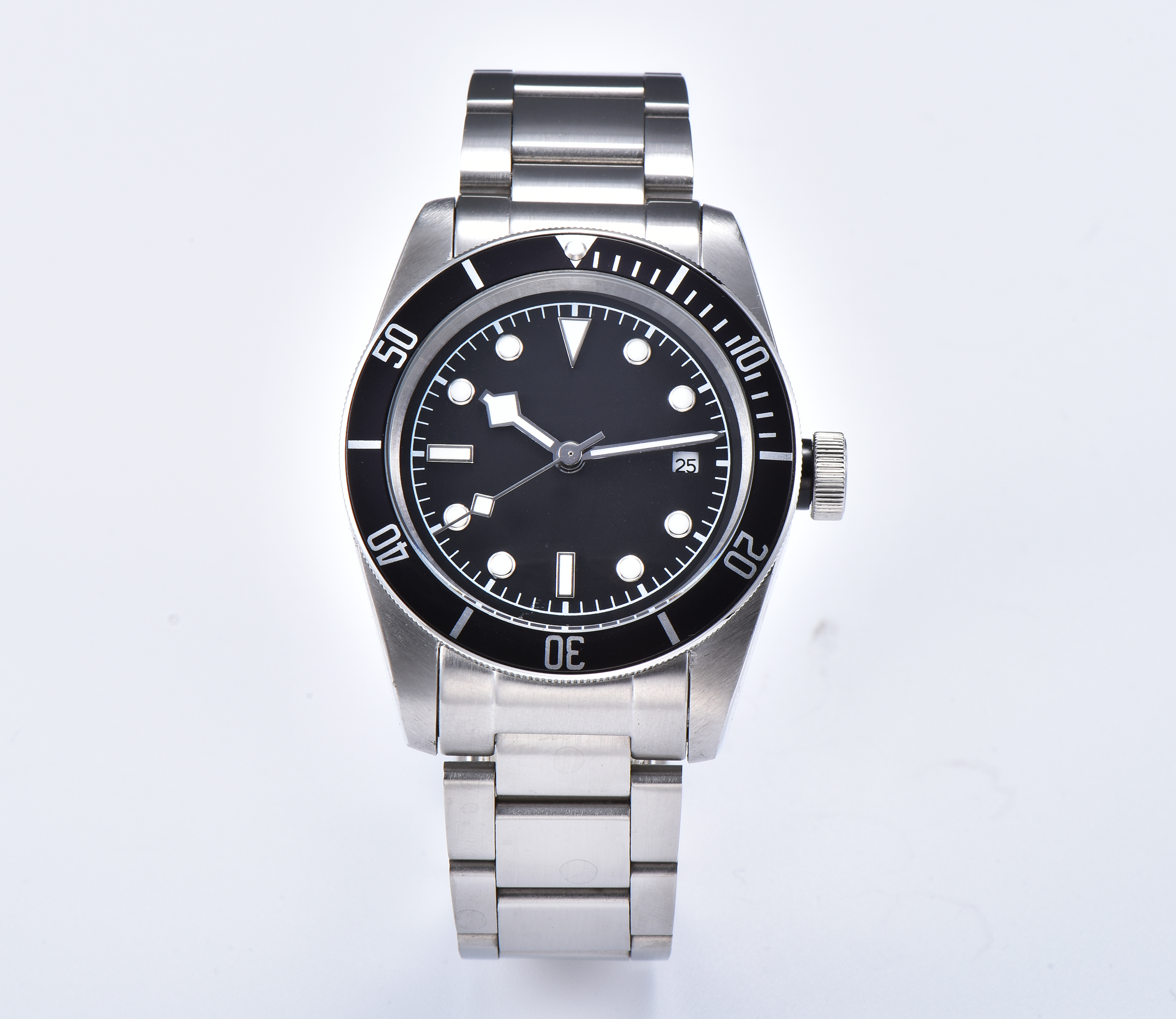 Luxury machinery new watch automatic movement stainless steel case steel strap male military Luminous marks Hands WW-19