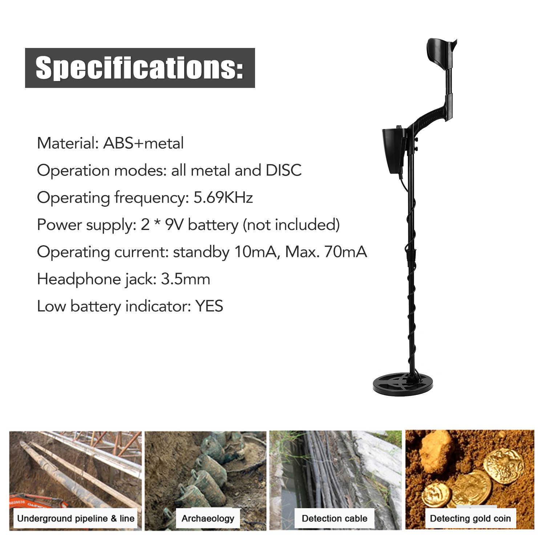 Portable Metal Detector Underground Bawah Tanah Sensitivitas Tinggi Perhiasan Harta Mendeteksi Logam Emas Alat Emas Detector GTX5060