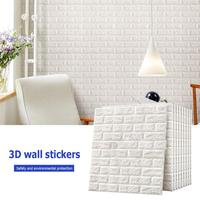 10Pcs 3D Brick Pattern Foam Sticker Self adhesive Convenient High quality Creative Wall Sticker for Home Decoration