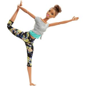 Image 3 - Barbie Original Made To Move 22 Joints Doll Yoga Movement Dolls Girls Reborn Educational Toys for Children Birthday Boneca Gift