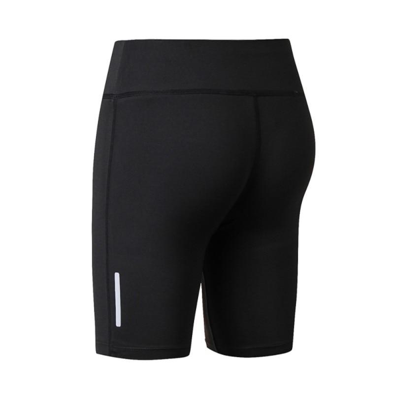 Women's Compression Fit Tight Night Reflective High Waist  Elastic Women Tight Bottom Slim Shorts