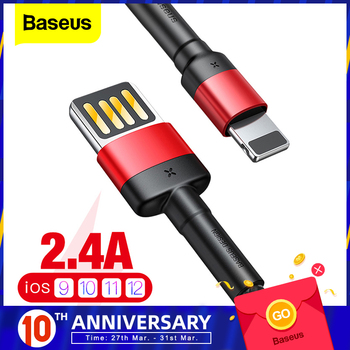 Baseus kabel USB dla iPhone XS Max XR X 8 7 6 6s Plus 5 5S SE iPad Pro 2 4A szybka ładowarka kabel danych kabel do telefonu tanie i dobre opinie LIGHTNING NYLON USB A Aluminum Alloy + TPE + Braided Wire Data Transmission Fast Charging Charger Cable 1m (2 4A Max) 2m (1 5AMax)
