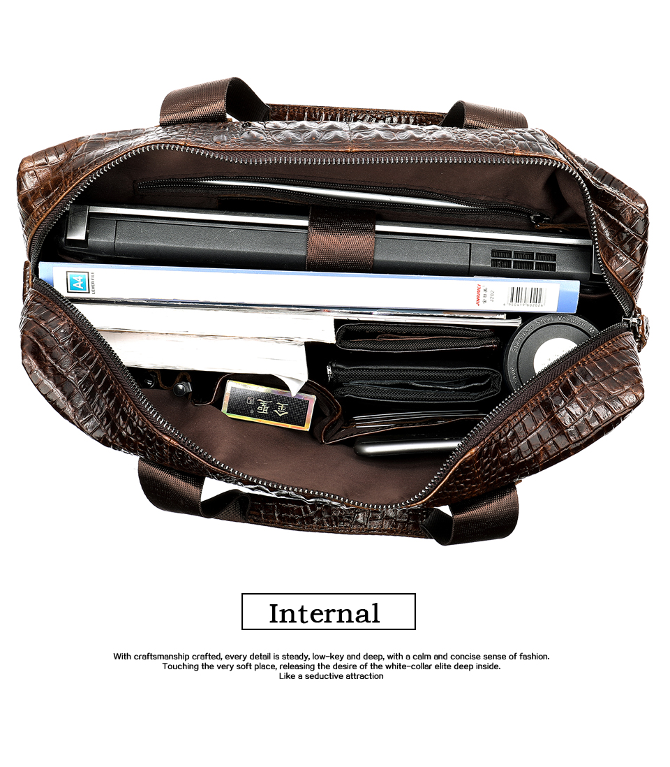 H6e39e304c8284968b6678db23208bdf0F WESTAL Men Briefcase Men's Bag Genuine Leather Office Bags for Men Laptop Bag Leather Briefcase Men Croco Design Computer Bags