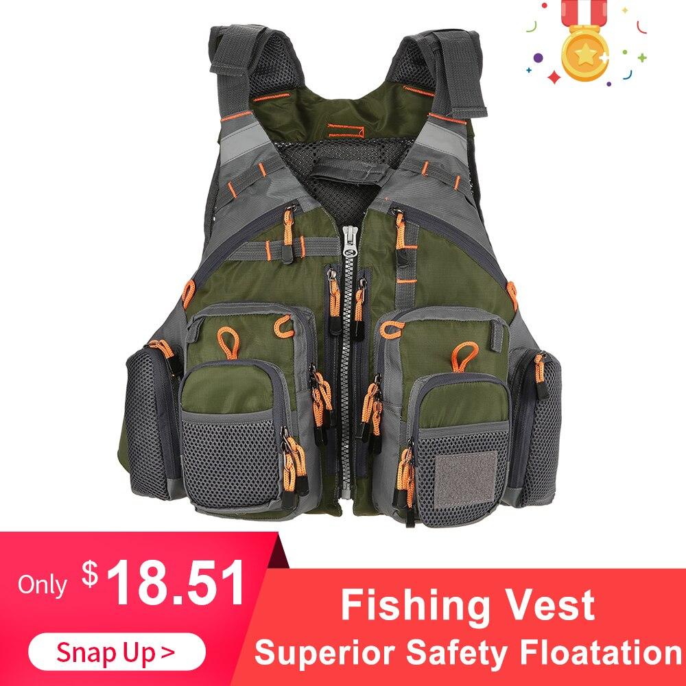 Lixada Outdoor Fishing Vest 209lb Bearing Life Safety Jacket Sailing Waistcoat Vest Floatation Floating Colete Salva-Vidas
