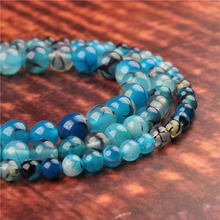 Fashion jewelry 4/6/8/10/12mm Blue Dragon Agate, suitable for making jewelry DIY bracelet necklace
