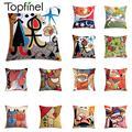 Topfinel наволочки с вышивкой, наволочки Пикассо, декоративные наволочки для диванных подушек, автомобильные абстрактные наволочки 45x45 см