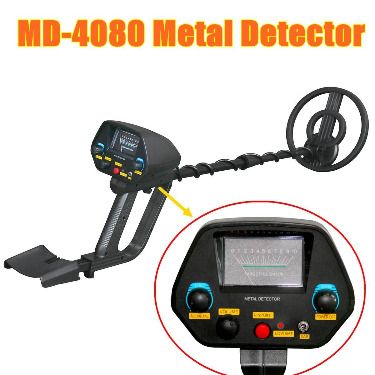 Detector de Metais Detector de Ouro Comprimento de Metal Buscador de Tesouro Ajustável Detector Portátil Md-4080