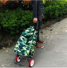 Light Buy Ingres Shopping Cart Folding Small Pull Car Basket Portable Elderly Supermarket Trailer Hand Lever Cart