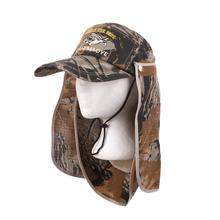 цены Visor Hat Neck Fishing Hats Camouflage Face Mask Cover Uv Protection Cap Camo Hiking Outdoor Sun