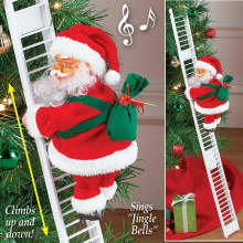 Klimmen Ladder Kerstman Elektrische Kerstman Pop Kerstboom Opknoping Ornament Outdoor Muur Kerst Decor Kids Gift(China)