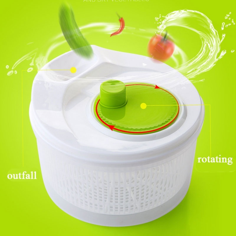 Salad Making Tool Salad Spinner Vegetables Dehydrator Salad Bowl Vegatable Mixer Salad Gadgets Food Helper Kitchen Tools image