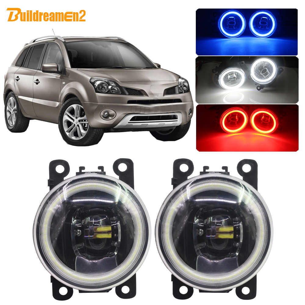 Buildreamen2 For Renault Koleos HY Car LED Fog Light Angel Eye Daytime Running Light 12V 2008 2009 2010 2011 2012 2013 2014 2015