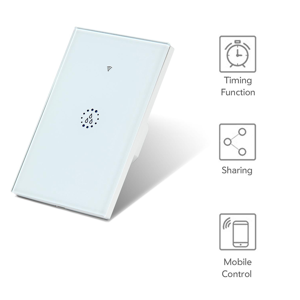 Teekar US Standard WiFi Boiler Water Heater Switch 4400W Ewelink App Remote Control  Timer Voice Control Google Home Alexa White