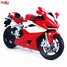 Maisto 1:12 2012MV Augusta F4RR simulation alloy motocross Series original authorized motorcycle model toy car Collecting gifts