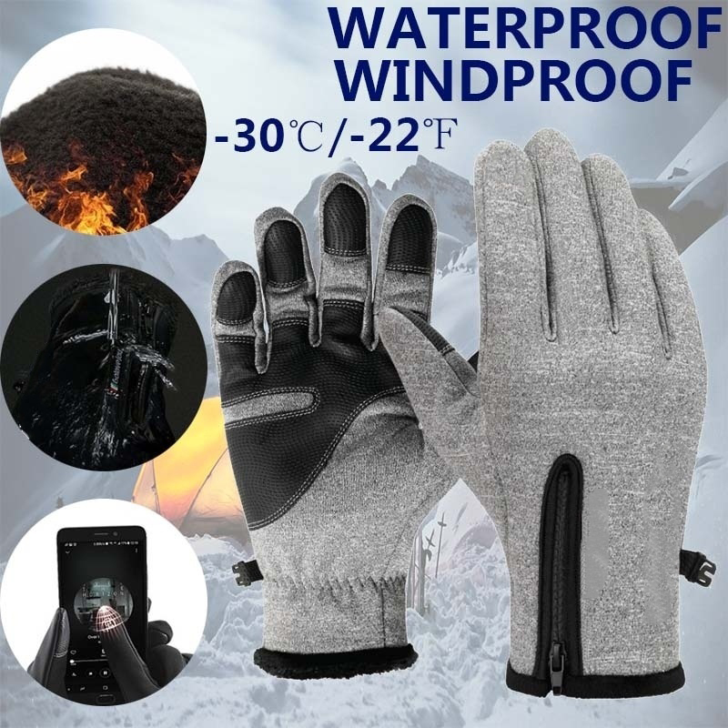 Gloves Mobile-Phone Waterproof-Material Skiing Warm Winter Outdoor Non-Slip Touch-Screen