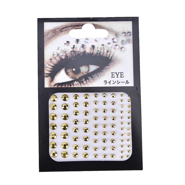 Christmas DIY Eyebrow Adhesive Crystal Glitter Face Body Art Jewels Festival Party Eye Stickers Tattoo Makeup Xmas Decor 3