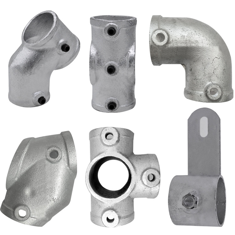 Galvanized Cast-iron Naughty Fort Fastener Oblique T-junction Steel Tube Fastener A Complete Range Of Specifications