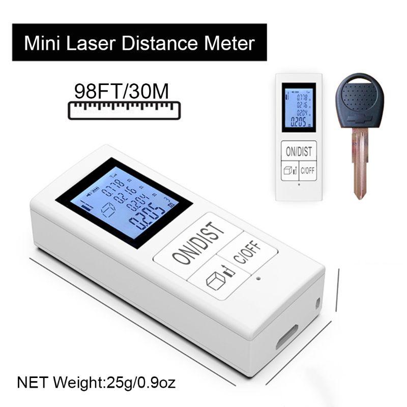 Mini Digital laser-distanzmessgerät Wiederaufladbare Messen 98 Ft/30 M Hause Verwenden Messung Werkzeug 0,03-35 m entfernungsmesser