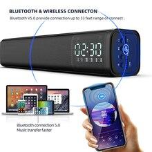 4D Computer Speaker Digital clock Stereo Sound Subwoofer 5.0 Bluetooth Speaker For Macbook Laptop Notebook PC Music Player