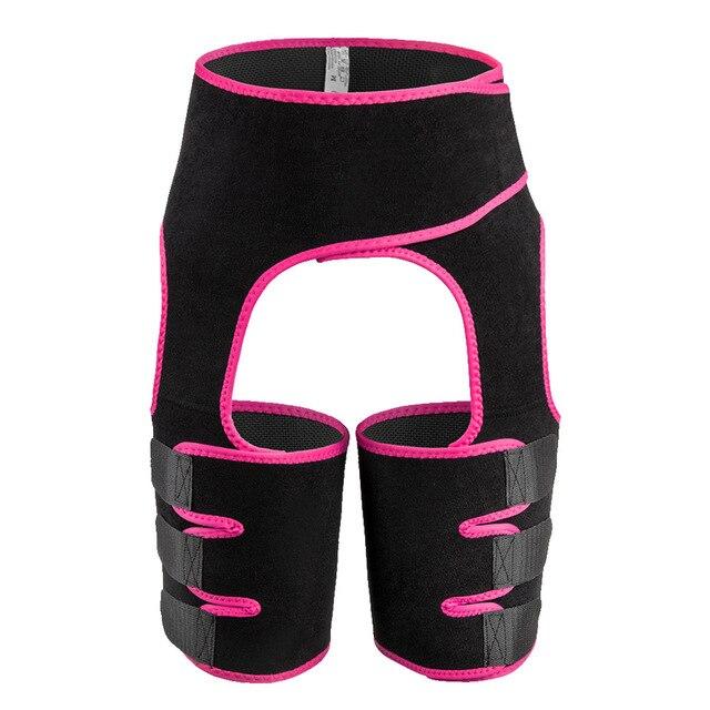 Fat Burning Yoga Trainer Butt Lift Sweat Shapewear Fitness Leg Shapers Waist Thigh Trimmer Adjustable For Women Slimming Belt 1