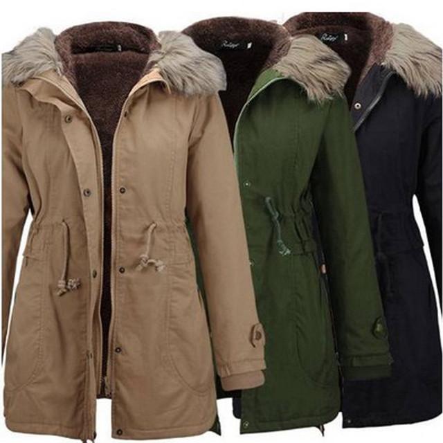 2019  Winter New Fashion Slim Ladies Womens Jacket Hooded Winter Long Coat Size Outwear Z731