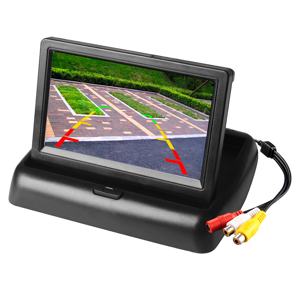 4,3 Zoll Faltbare Auto Monitor TFT LCD Display Metall Rück Kamera für Auto Rück Monitor Parking System