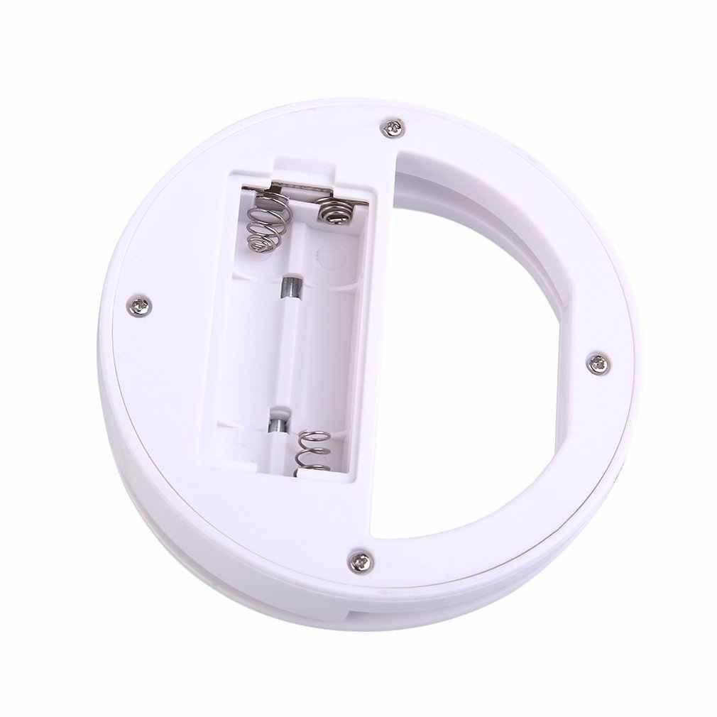 LED Selfie anneau caméra lumière Portable universel téléphone lentille pour iPhone X Nokia lampe ronde Flash caméra photographie amélioration