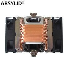 Ventilateur X79 X99 refroidisseur de processeur 4 broches, 115X 1366 2011, 6 tuyaux chauffants, refroidissement double tour, 9cm, compatible Intel AMD RGB, ARGB ryzen
