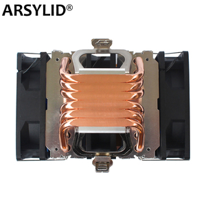 Image 1 - X79 X99 CPU cooler 4pin fan 115X 1366 2011 6 heatpipe dual tower cooling 9cm fan support Intel AMD RGB ARGB fans ryzen